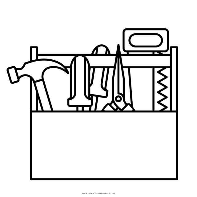 Toolbox Coloring Page - Ultra Coloring Pages