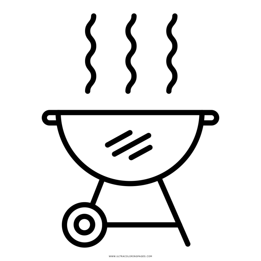 bbq grill coloring pages