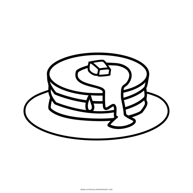 Pancakes Coloring Page - Ultra Coloring Pages
