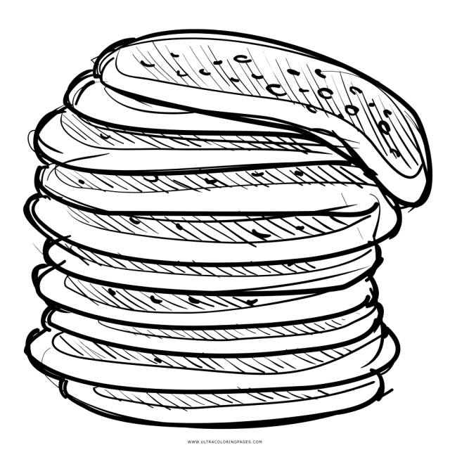 Stack Of Pancakes Coloring Page - Ultra Coloring Pages