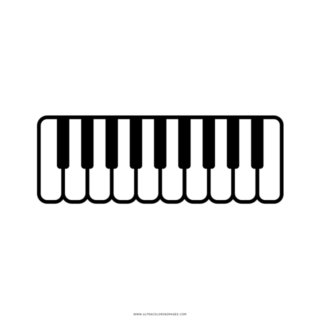 Piano Coloring Page - Ultra Coloring Pages