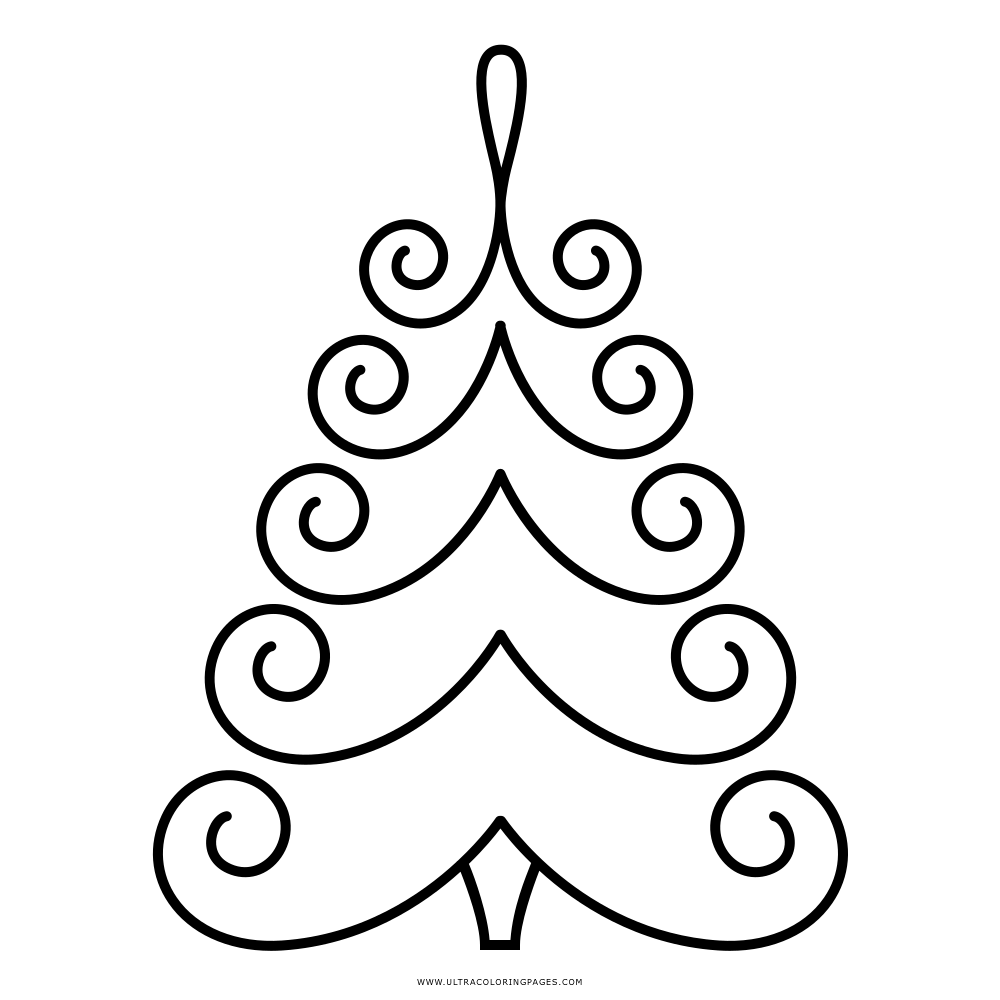 Christmas Tree Coloring Page Ultra Coloring Pages