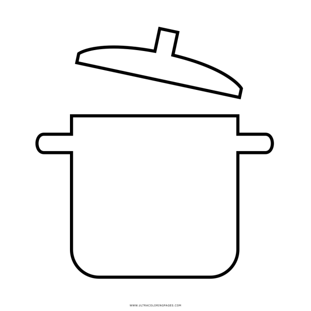 Cooking Pot Coloring Page - Ultra Coloring Pages