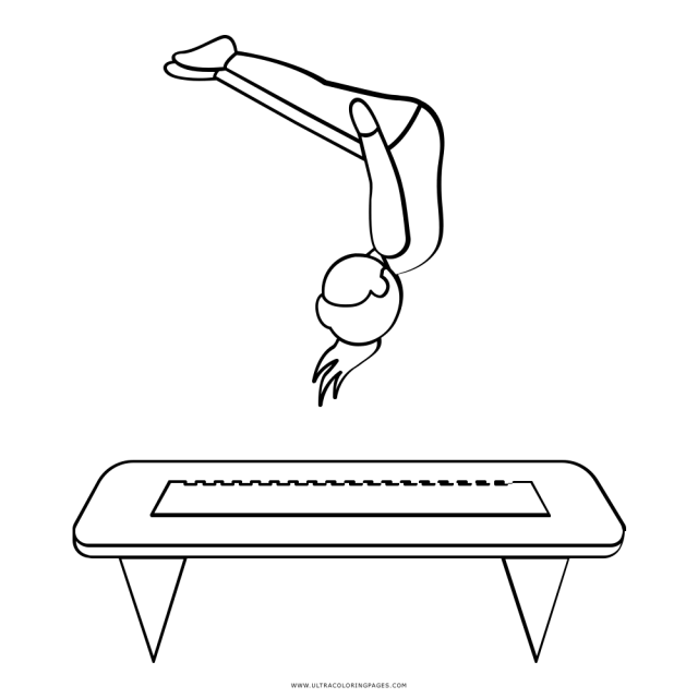 Trampoline Coloring Page - Ultra Coloring Pages