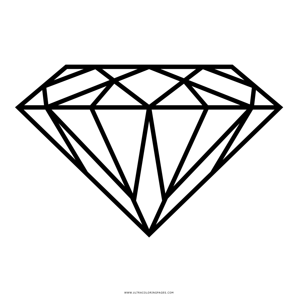 Diamond Coloring Page Ultra Coloring Pages