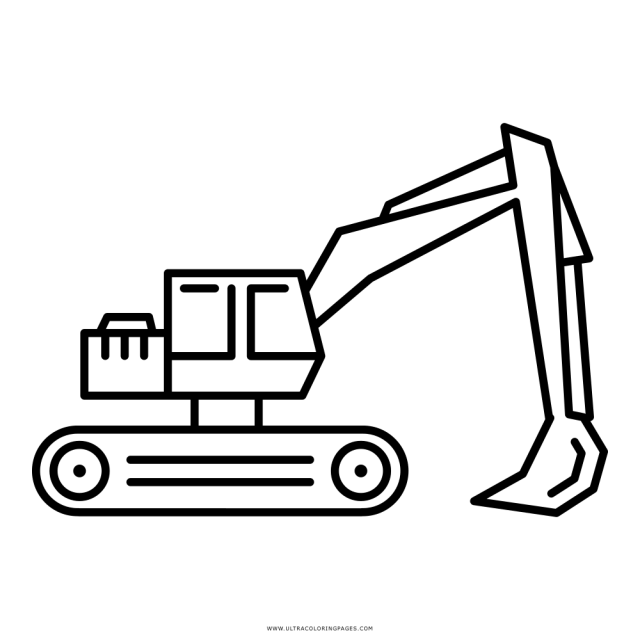 Excavator Coloring Page - Ultra Coloring Pages