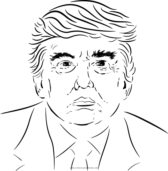 Donald Trump Coloring Page - Ultra Coloring Pages