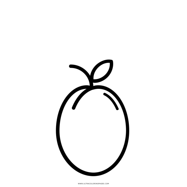 Plum Coloring Page - Ultra Coloring Pages