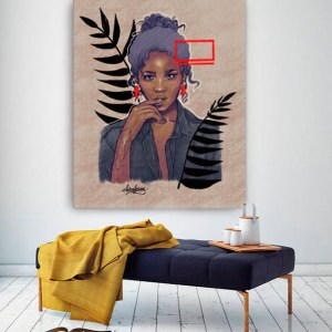 Black woman canggu Bohemian canvas print