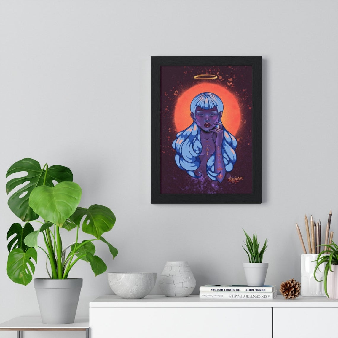 Purple woman soul print