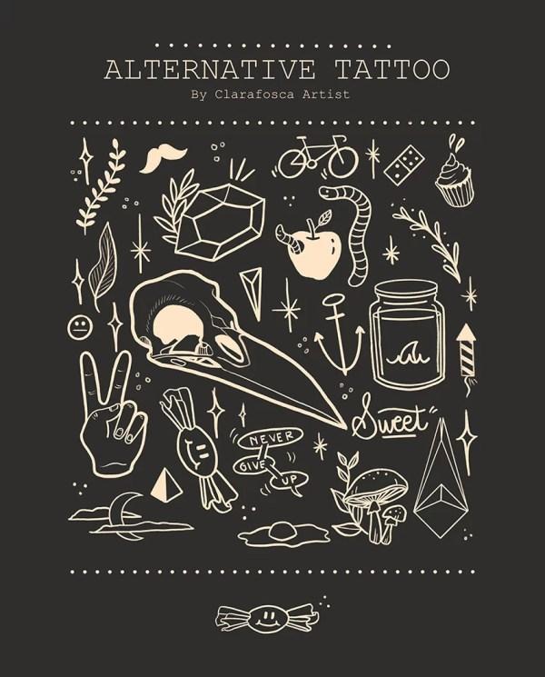 Alternative tattoo black print