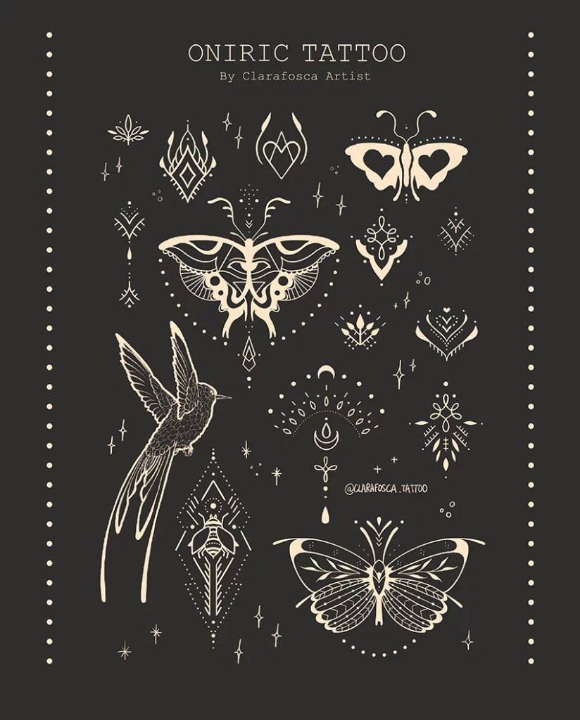 oniric tattoo black print