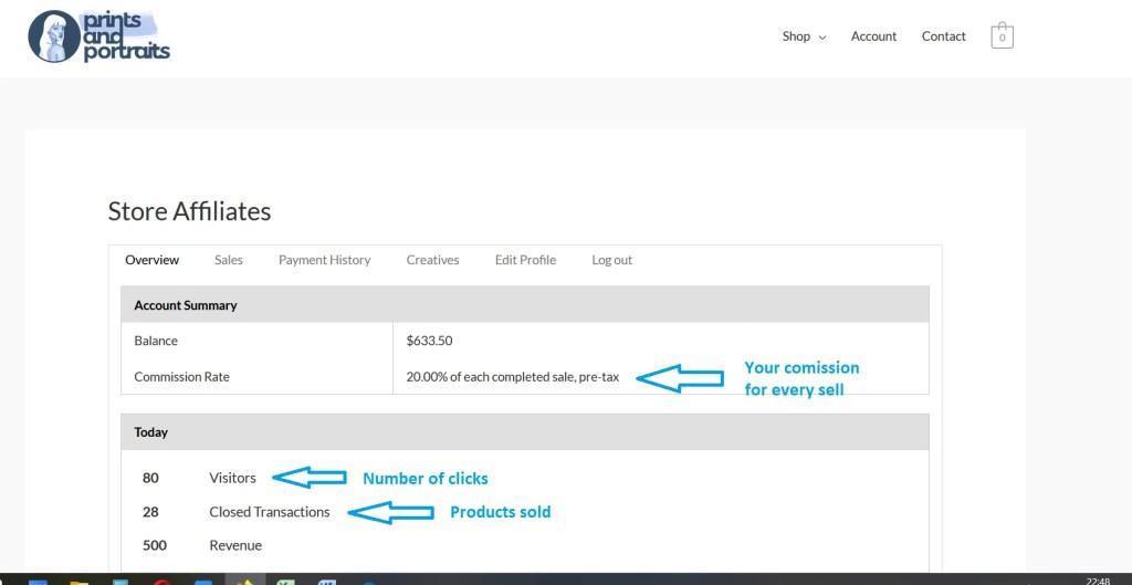 dashboard affiliate