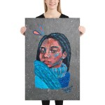 "Extra-large canvas 24""x36"" (61x91,5cm)"