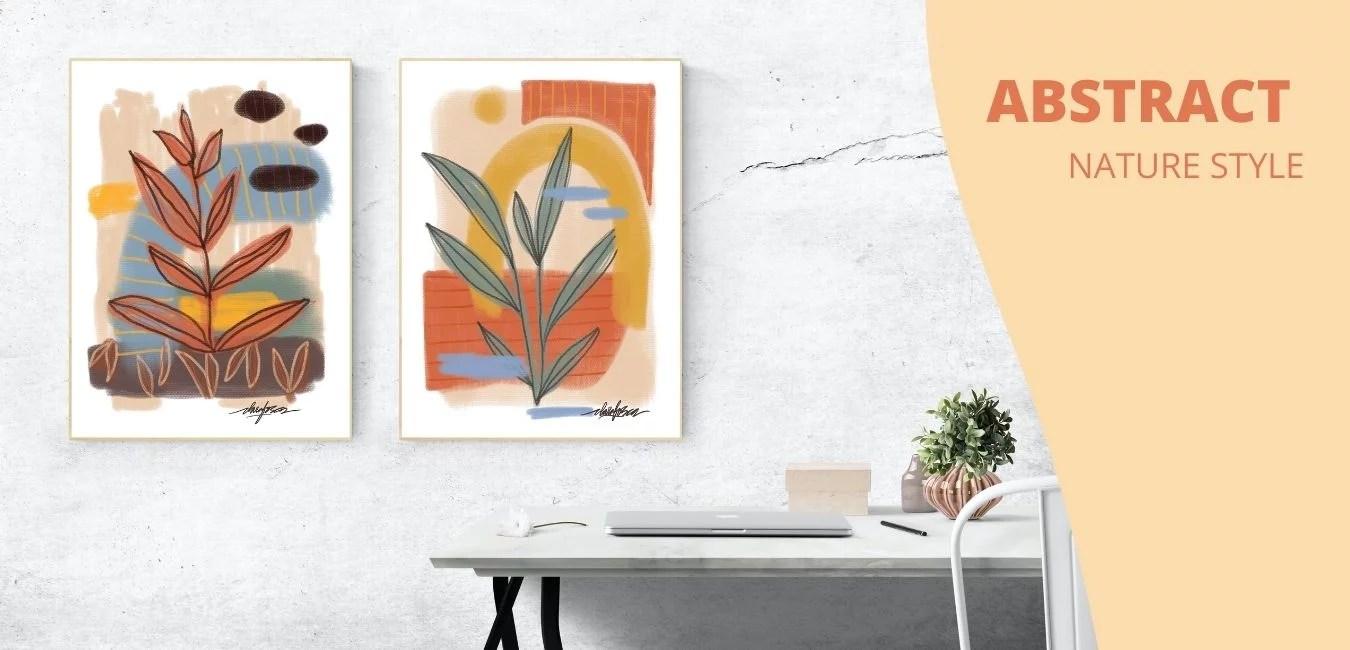 Abstract Nature Print Set