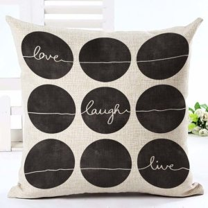 Love live laugh dots cushion