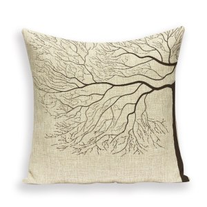 Naked branches cushion