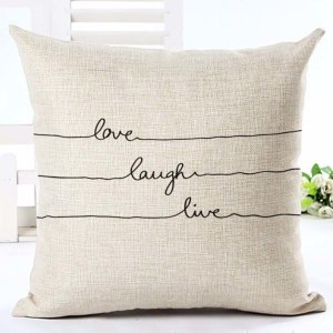 love,laugh,live cushion