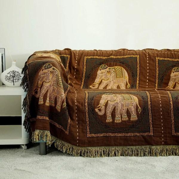 elephant autumn blanket