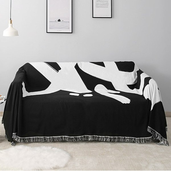 Black & White Tag Tapestry