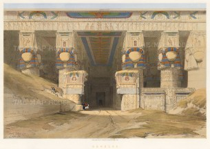 David Roberts: Egypt. 1847. A hand-coloured original antique lithograph. 21 x 15 inches. [EGYp952]