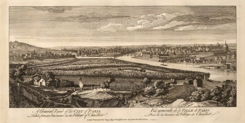 Sayer: Paris. 1774. An original antique copper-engraving. 20 x 10 inches. [FRp1569]