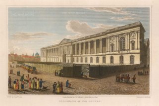 Lieut. Col. Batty: Louvre, Paris. 1821. A hand-coloured original antique steel-engraving. 8 x 5 inches. [FRp1531]