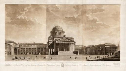 Angeli: Torino. Aquatint, 1831. 54 x 32 inches [ITp2078]