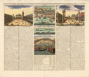 Chatelain: Venice. Hand coloured copper engraving, 1719. 18 x 16 inches. [ITp2177]