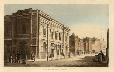 "John Papworth, 'Drury Lane Theatre', 1816. An original colour aquatint. 6"" x 8"". £POA."