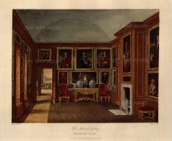 "Pyne, 'Kensington Palace', the Admiral's Gallery, 1818. An original colour aquatint. 10"" x 12"". £POA."