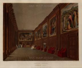 "Pyne, 'Hampton Court', cartoon gallery, 1818. An original colour aquatint. 8"" x 10"". £POA."