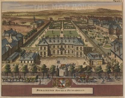 "Van der Aa, 'Royal Academy, Burlington House, Piccadilly', c.1770. An original black and white copper engraving. 5"" x 6"". £POA."