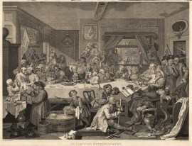 "William Hogarth, 'Election', 1 of 4, c.1800. An original black and white copper engraving. 15"" x 22"". £POA."