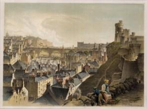 "Samuel Swarbreck, 'The North Bridge', Edinburgh, 1837. A hand-coloured original lithograph. 12"" x 16"". £POA."