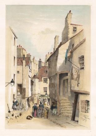 """Samuel Swarbreck, 'Wynd High School', Edinburgh, 1837. A hand-coloured original lithograph. 12"""" x 16"""". £POA."""