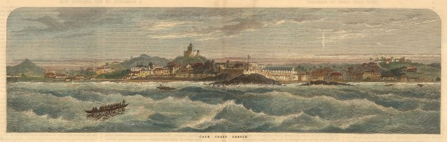The Illustrated London News: Ghana. Circa 1880. A hand-coloured original antique wood-engraving. 21 x 7 inches. [AFRp1375]