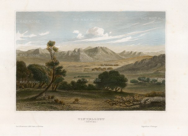 Sherwood, Neely & Jo: Timbuktu, Mali. 1810. A hand-coloured original steel-engraving. 7 x 5 inches. [AFRp1387]