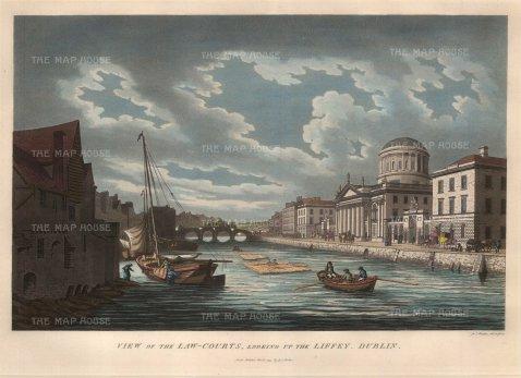 Malton: Dublin. 1799. A hand-coloured original antique aquatint. 15 x 10 inches. [IREp299]