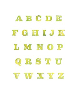 Yellow Painted Alphabet