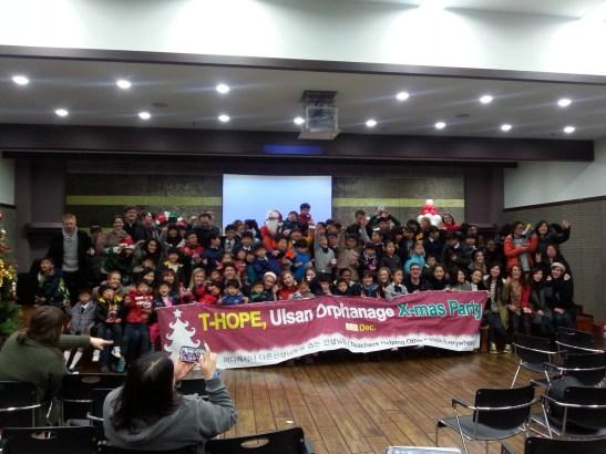 The wonderful volunteers and kids