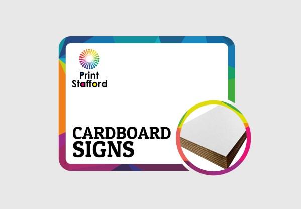 cardboard signs printing