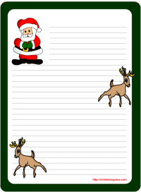 christmas letter paper free printable merry christmas and happy