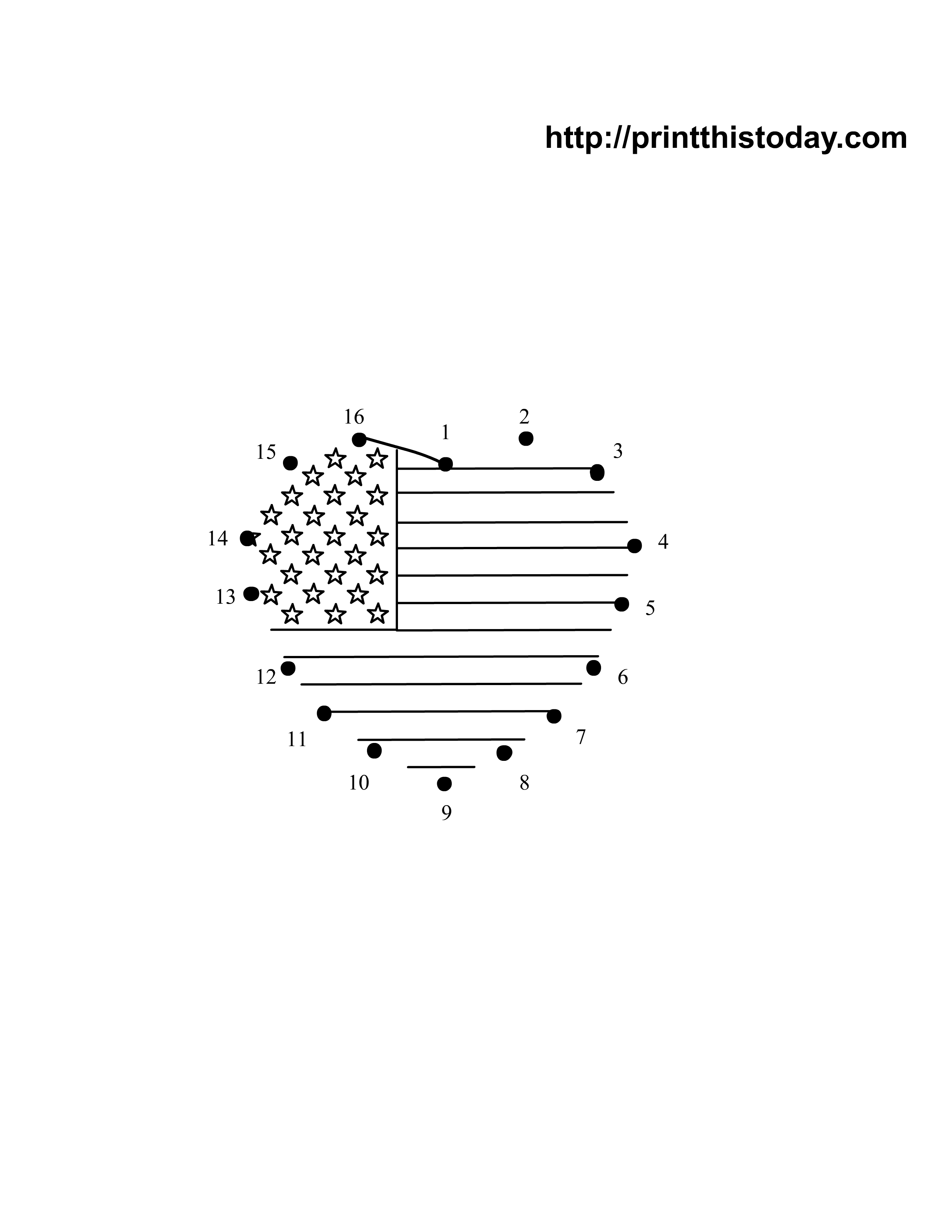Free Printable 4th Of July Dot To Dot Worksheets