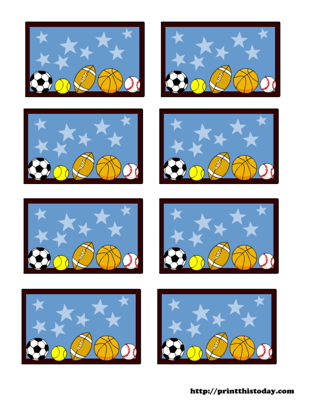 Sports Themed Baby Shower Labels Templates