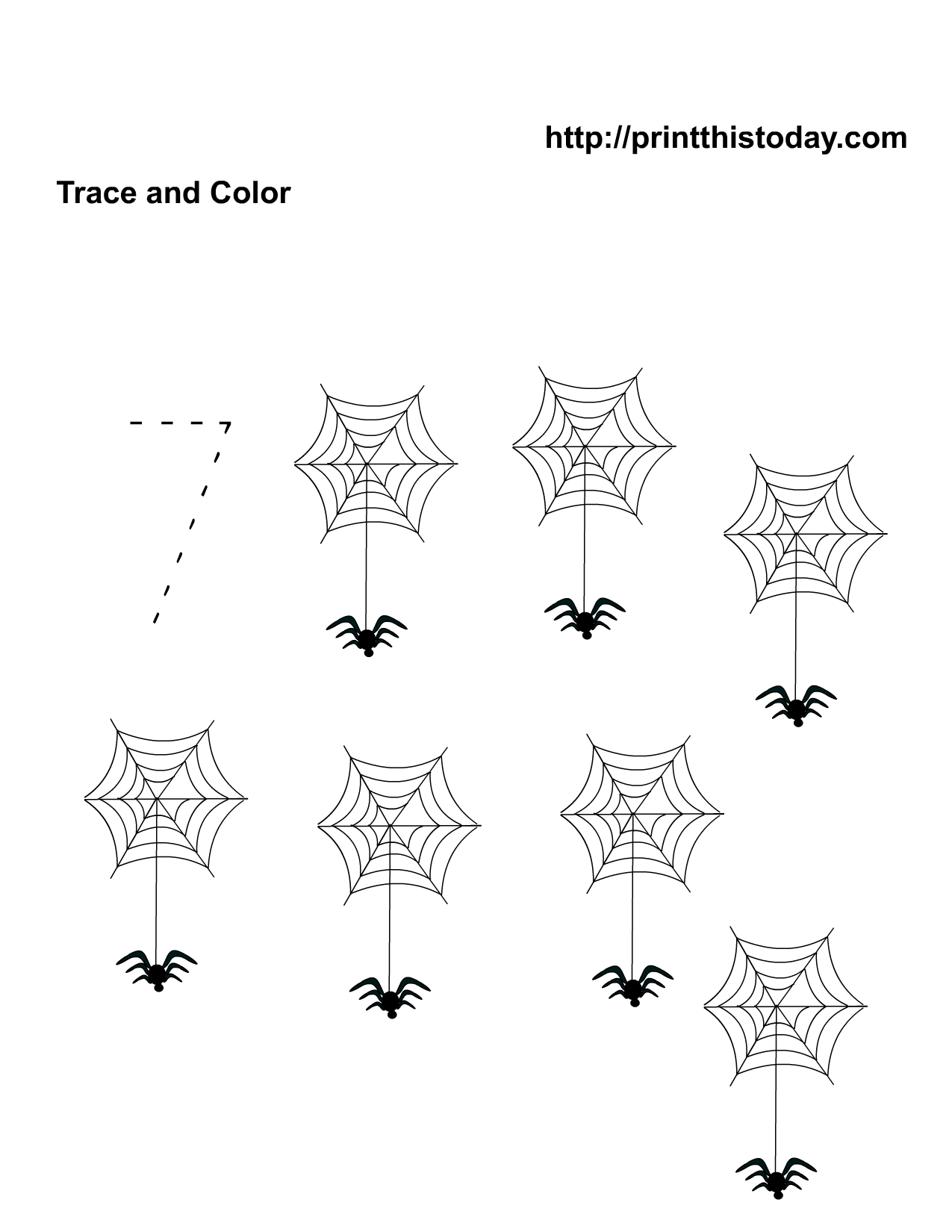 Spider Math Worksheet Kindergarten