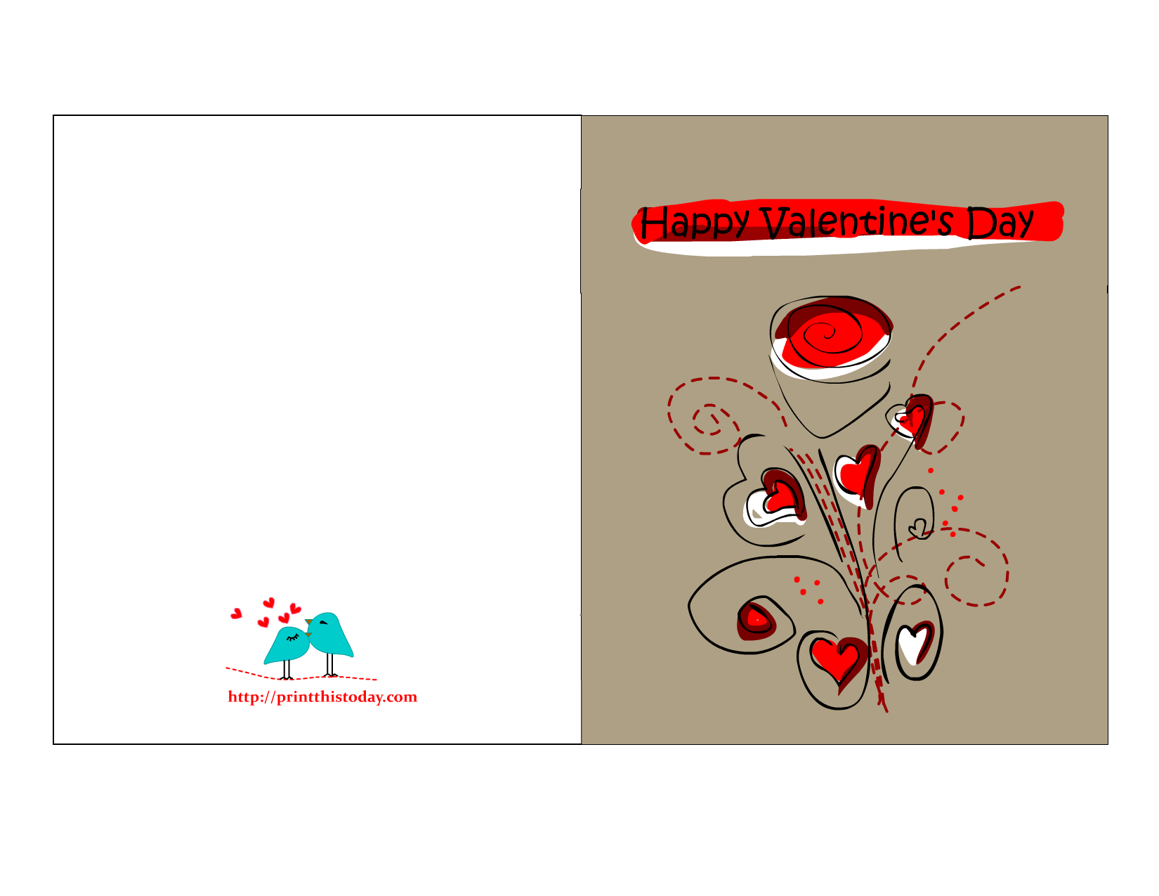 Free Printable Valentine S Day Greeting Cards
