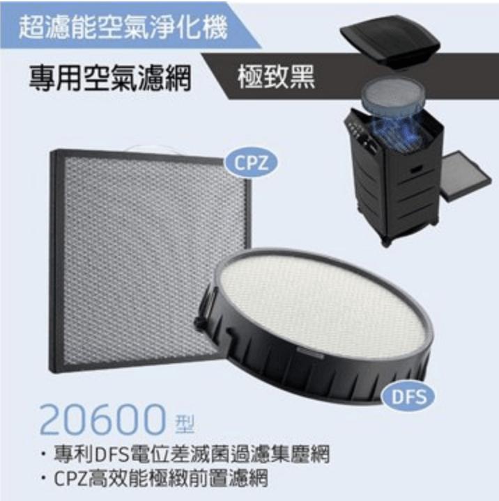 HealthWay DFS-20600 : HW-206電漿濾網 與前置濾網組