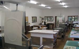 Interior of The Artists' Press studio
