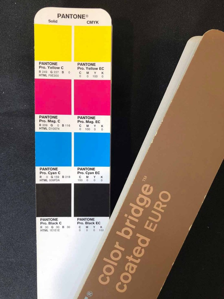 Pantone Spot Colours & CMYK Process Colours